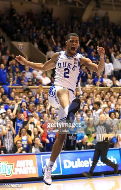 Cassius Stanley of the Duke Blue Devils during their game at Cameron Indoor Stadium on January 18 2020 in Durham North Carolina