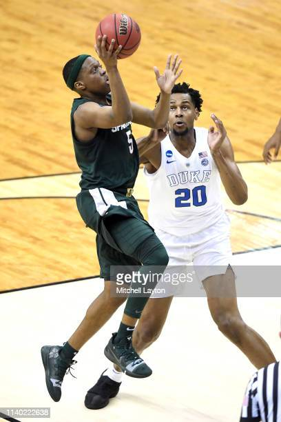 Cassius Winston of the Michigan State Spartans drives to the basket during the East Regional game of the 2019 NCAA Men's Basketball Tournament...