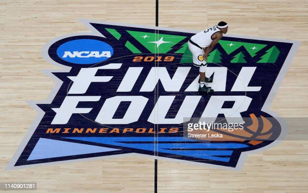 Cassius Winston of the Michigan State Spartans looks on during the 2019 NCAA Final Four semifinal against the Texas Tech Red Raiders at US Bank...