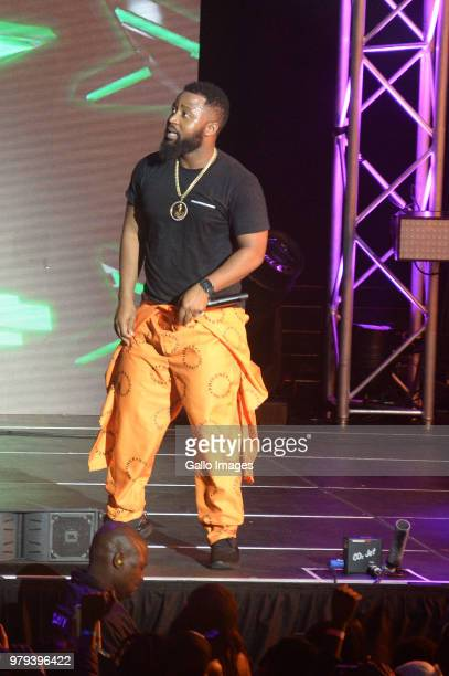 Cassper Nyovest performs during the June 16 Youth Day Celebration concert at Time Square Sun Arena on June 16 2018 in Pretoria South Africa The...