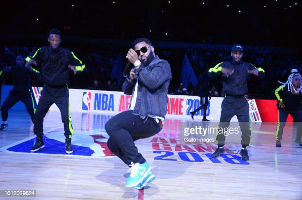 Cassper Nyovest performs during the NBA Africa Game 2018 at Sun Arena, Time Square on August 04, 2018 in Pretoria, South Africa. The NBA Africa Game...