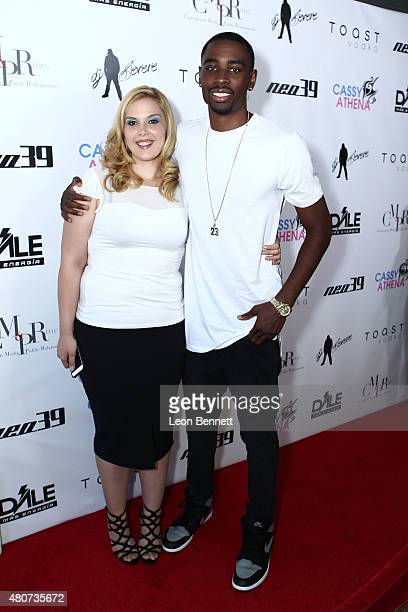 Cassy Athena and Jordan Richard attended NEO 39 Presents The Cassy Athena Collection PreESPYS Celebration at MR33B on July 14 2015 in Pasadena...