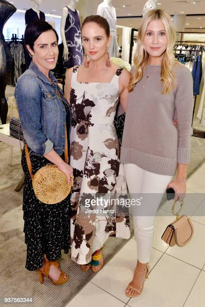 Cassidy Berliner Caitlyn Chase and Jen Wilson attend Lafayette 148 New York #WomenArtists Event on March 24 2018 at Nordstrom South Coast Plaza in...