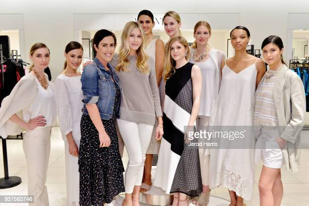 Cassidy Berliner Jen Wilson and Caitlyn Chase attend Lafayette 148 New York #WomenArtists Event on March 24 2018 at Nordstrom South Coast Plaza in...