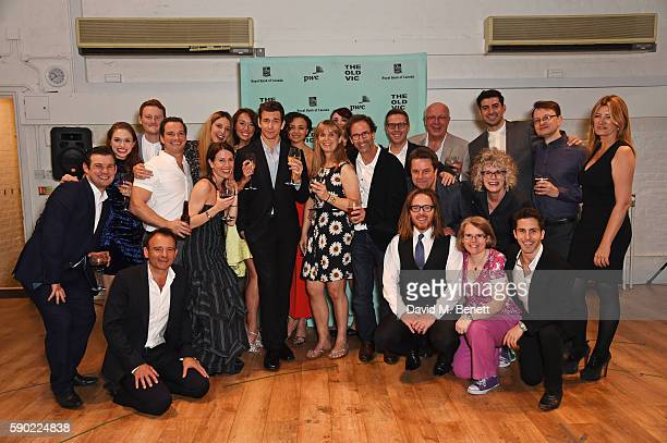 Cast and creatives including writer Danny Rubin, director Matthew Warchus, cast members Carlyss Peer, Andy Karl and composer Tim Minchin attend the...