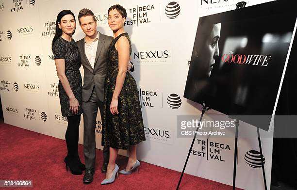 GOODWIFE cast and creators to say goodbye with Tribeca Film Festival panel on April 17 2016 in New York City Pictured Julianna Margulies Matt Czuchry...