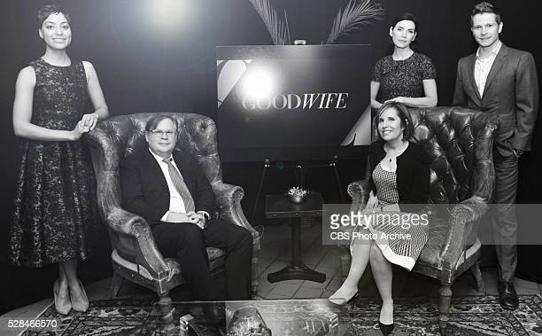 GOODWIFE cast and creators to say goodbye with Tribeca Film Festival panel on April 17 2016 in New York City Pictured Cush Jumbo Creators Robert...