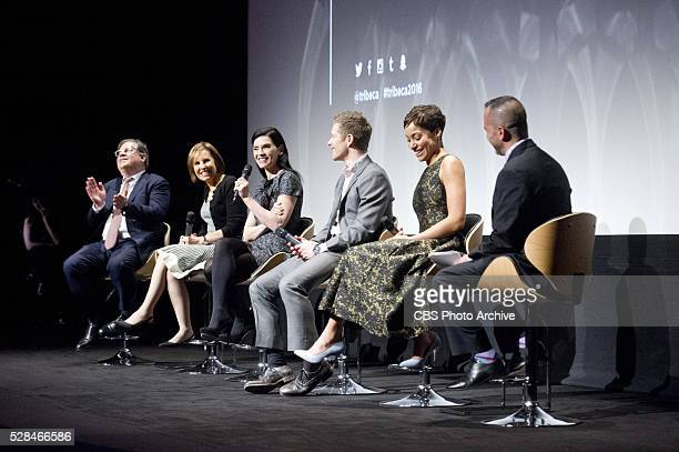 GOODWIFE cast and creators to say goodbye with Tribeca Film Festival panel on April 17 2016 in New York City Pictured Creator Robert and Michelle...