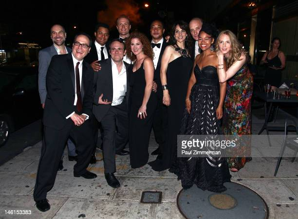 Cast and crew attend a party for the cast and crew of Clybourne Park following the 66th annual Tony awards at Whiskey Park on June 10 2012 in New...