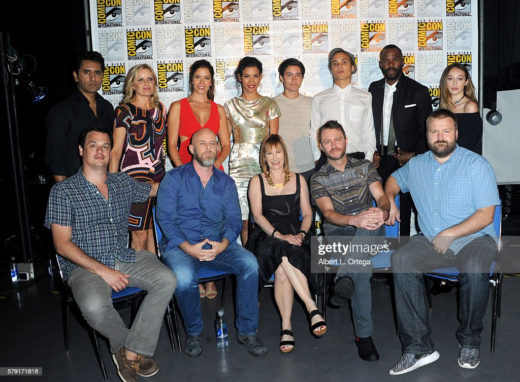Cast and crew attend AMC's 'Fear The Walking Dead' panel during Comic-Con International 2016 at San Diego Convention Center on July 22, 2016 in San Diego, California.