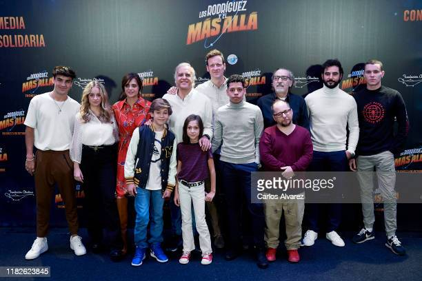 Cast and Crew attend Los Rodriguez y el Mas Alla photocall at Telefonica Gran Via store on October 22 2019 in Madrid Spain