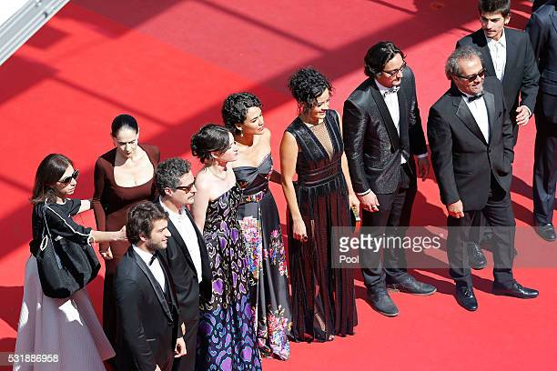 Cast and crew attend the 'Aquarius' premiere during the 69th annual Cannes Film Festival at the Palais des Festivals on May 17 2016 in Cannes France