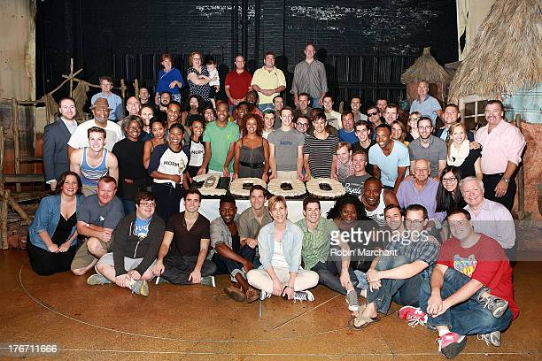 Cast and Crew attend 'The Book Of Mormon' on Broadway 1000th performance celebration at Eugene O'Neill Theatre on August 17 2013 in New York City