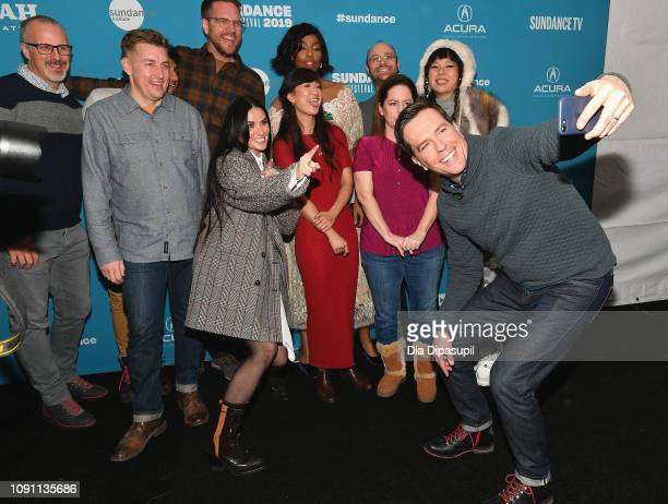 Cast and crew attend the Corporate Animals Premiere during the 2019 Sundance Film Festival at Eccles Center Theatre on January 29 2019 in Park City...