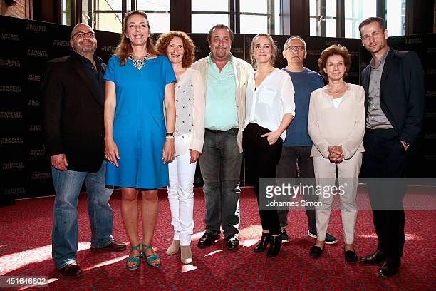 Cast and crew attend the 'Die reichen Leichen Ein Starnbergkrimmi' premiere as part of Filmfest Muenchen at CarlOrffSaal on July 3 2014 in Munich...