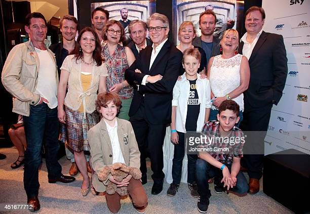 Cast and crew attend the 'Die Seelen im Feuer' premiere as part of Filmfest Muenchen 2014 at Rio Filmpalast on July 3 2014 in Munich Germany