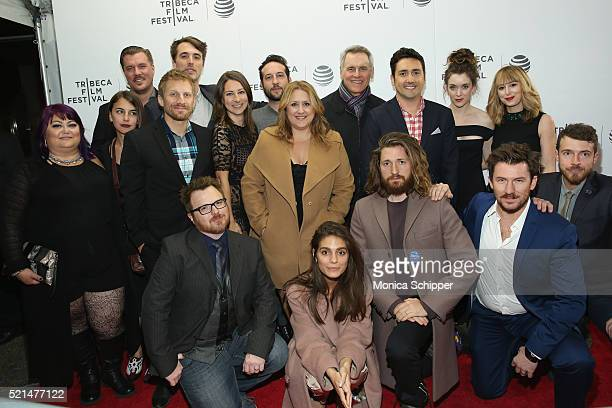 Cast and crew attend the Fear Inc Premiere during the 2016 Tribeca Film Festival at Regal Battery Park Cinemas on April 15 2016 in New York City