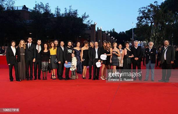 Cast and crew attend the Le Cose Che Restano Premiere during the 5th International Rome Film Festival at the Auditorium Parco Della Musica on...