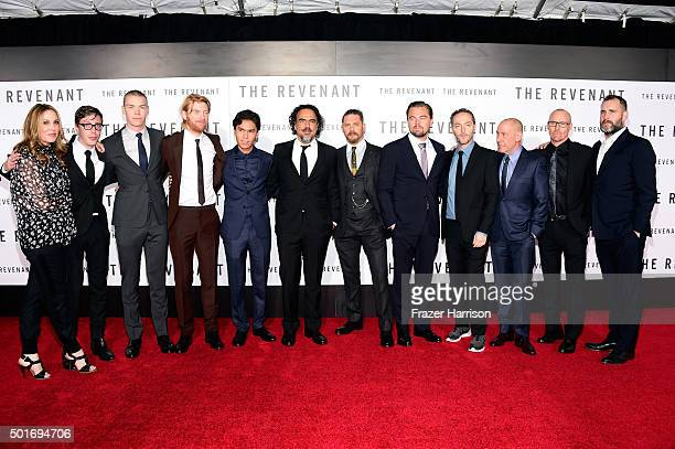 "Cast and crew attend the premiere of 20th Century Fox and Regency Enterprises' ""The Revenant"" at the TCL Chinese Theatre on December 16, 2015 in..."
