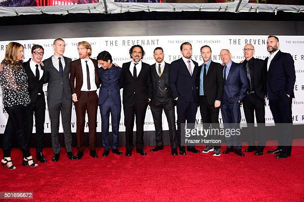 Cast and crew attend the premiere of 20th Century Fox and Regency Enterprises' The Revenant at the TCL Chinese Theatre on December 16 2015 in...