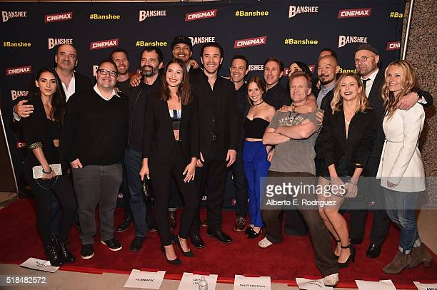 Cast and crew attend the premiere of Cinemax's Banshee 4th Season at UTA on March 31 2016 in Beverly Hills California