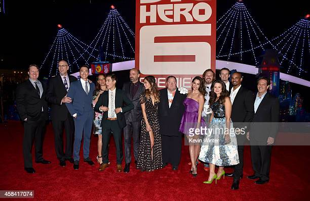 Cast and crew attend the premiere of Disney's Big Hero 6 at the El Capitan Theatre on November 4 2014 in Hollywood California