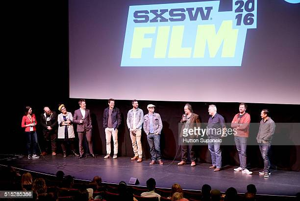 "Cast and crew attend the premiere of ""In the Valley of Violence"" during the 2016 SXSW Music, Film + Interactive Festival at Stateside Theater on..."