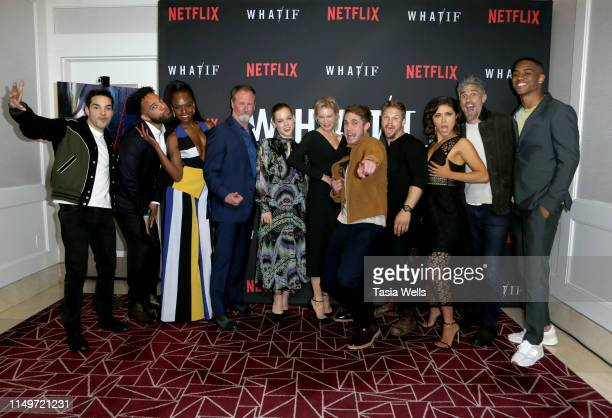 Cast and crew attend the premiere of Netflix's What/If at The London on May 16 2019 in West Hollywood California