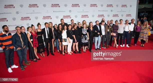 Cast and crew attend the premiere of the film 'Klassentreffen 10 Die unglaubliche Reise der Silberruecken' at CineStar on September 11 2018 in Berlin...