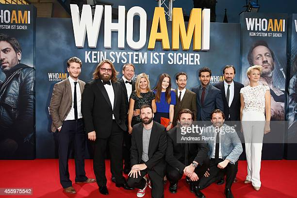 Cast and Crew attend the premiere of the film 'Who am I' at Zoo Palast on September 23 2014 in Berlin Germany