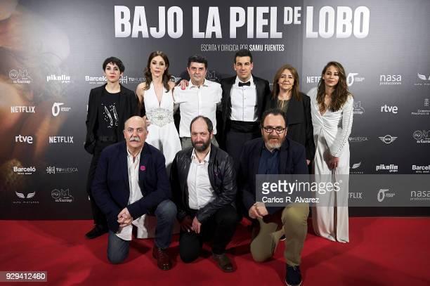 Cast and Crew attends 'Bajo La Piel del Lobo' premiere at the Callao cinema on March 8 2018 in Madrid Spain