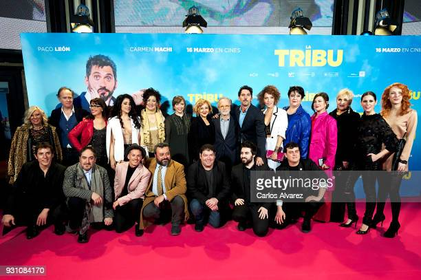 Cast and Crew attends 'La Tribu' premiere at the Capitol cinema on March 12 2018 in Madrid Spain