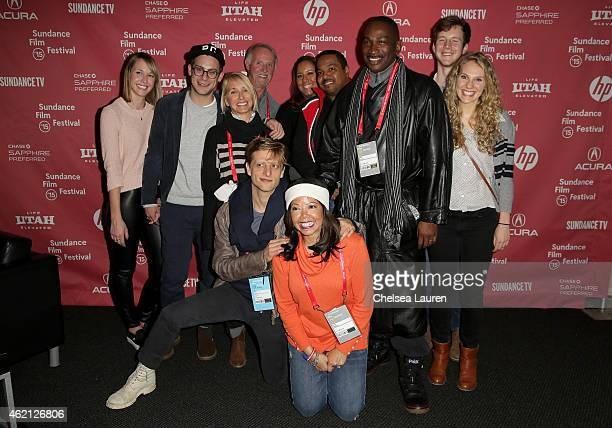 Cast and crew attends the 3 1/2 Minutes premiere during the 2015 Sundance Film Festival on January 24 2015 in Park City Utah