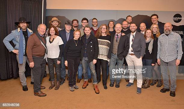 Cast and crew attends the 78/52 Premiere at Egyptian Theatre on January 23 2017 in Park City Utah