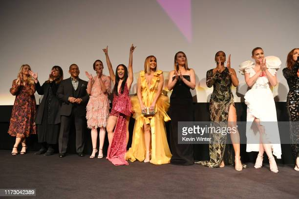 Cast and crew attends the Hustlers premiere during the 2019 Toronto International Film Festival at Roy Thomson Hall on September 07 2019 in Toronto...