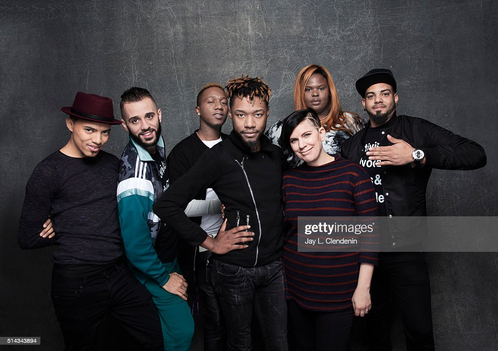 Cast and crew from the film 'Kiki' poses for a portrait at the 2016 Sundance Film Festival on January 26, 2016 in Park City, Utah.