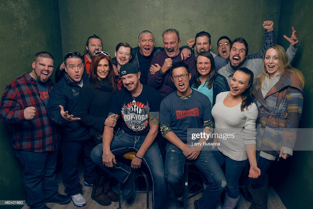 Cast and crew from 'The Resurrection of Jake The Snake Roberts' pose for a portrait at the Village at the Lift Presented by McDonald's McCafe during the 2015 Sundance Film Festival on January 23, 2015 in Park City, Utah.