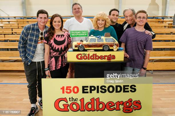 THE GOLDBERGS Cast and crew gather on set at Sony Pictures Studios to celebrate the 1980something comedy as the hit series inspired by Adam F...
