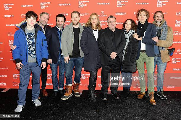Cast and Crew including actor Barry Keoghan producer Macdara Kelleher actress Rachel Griffiths director Rebecca Daly and producer Conor Barry attend...