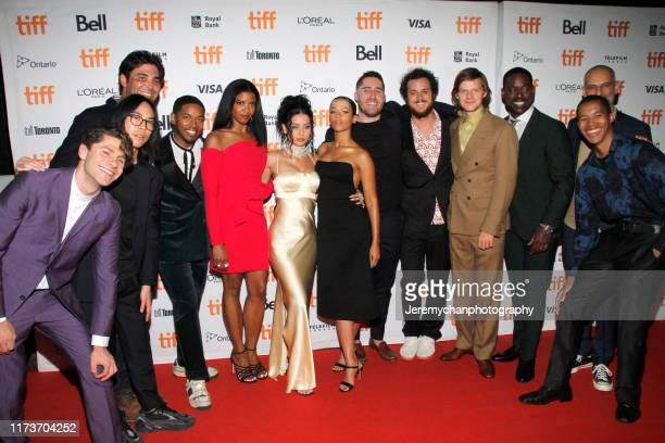 Cast and crew Kelvin Harrison Jr Renee Elise Goldsberry Alexa Demie Taylor Russell Trey Edward Shults Lucas Hedges and Sterling K Brown attend the...