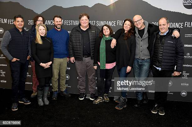 Cast and crew members attend 'TRUMPED Inside The Gratest Political Upset Of All Time' Premiere during the 2017 Sundance Film Festival at The Marc...