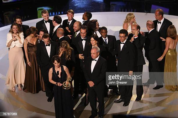 Cast and Crew of '30 Rock' during the 59th Annual Primetime Emmy Awards at the Shrine Auditorium on September 16 2007 in Los Angeles California