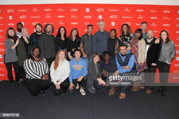 Cast and Crew of 'America To Me' attend 'America To Me' during the 2018 Sundance Film Festival at The Ray on January 22 2018 in Park City Utah