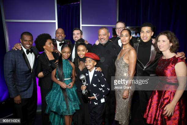 Cast and crew of 'blackish' winners of Outstanding Comedy Series attend the 49th NAACP Image Awards at Pasadena Civic Auditorium on January 15 2018...