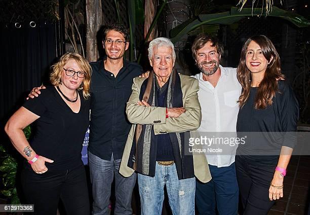 "Cast and Crew of Blue Jay, Mel Eslyn, Alexandre Lehmann, Clu Gulager, Mark Duplass and Xan Aranda attend the ""Blue Jay"" Los Angeles Special Screening..."