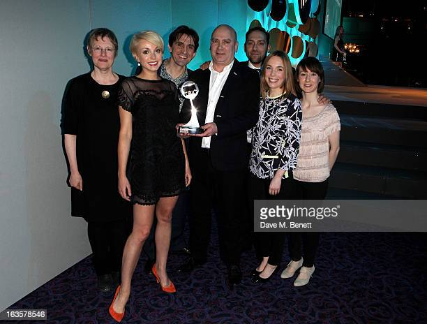 Cast and crew of 'Call The Midwife' accept the HD Drama Programme of the Year award at the TRIC Television and Radio Industries Club Awards at The...