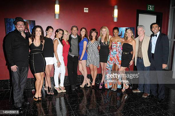 Cast and crew of Femme Fatales at the AfterParty For Cinemax's Femme Fatales 2nd Season held at ArcLight Hollywood on May 21 2012 in Hollywood...