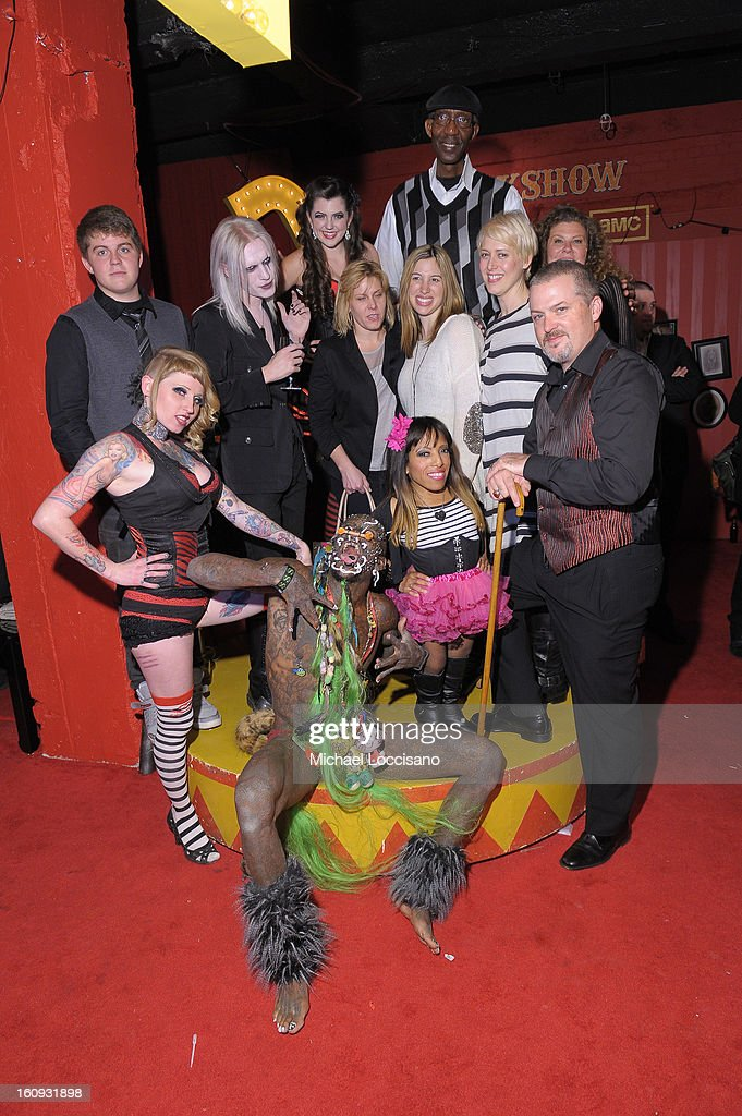 Cast and Crew of Freakshow attend Immortal Love Pop-up Experience - Freakshow & Immortalized on February 7, 2013 in New York City.
