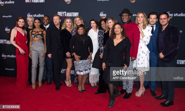 Cast and crew of Grey's Anatomy Sarah Drew Betsy Beers Kelly McCreary Jason George Kevin McKidd Jessica Capshaw Krista Vernoff Chandra Wilson...