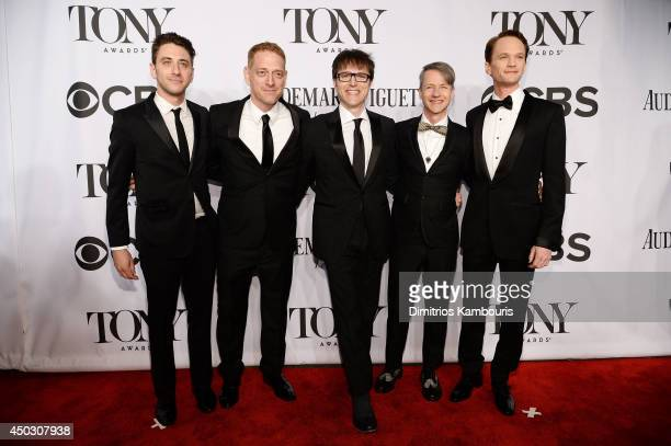 Cast and crew of Hedwig and the Angry Inch attend the 68th Annual Tony Awards at Radio City Music Hall on June 8 2014 in New York City